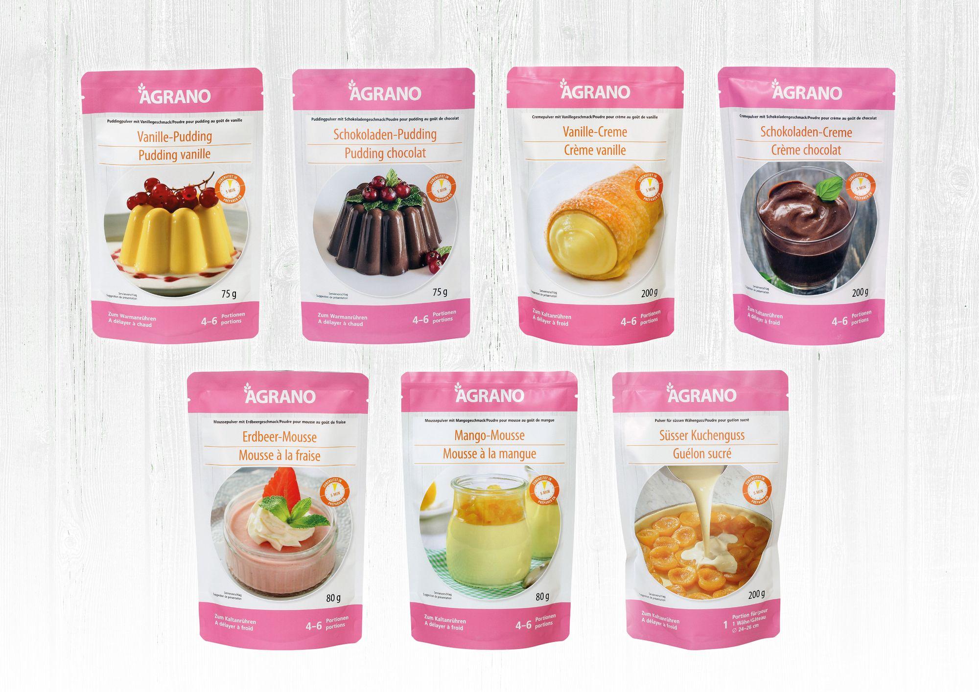 Agrano lance des sachets pratiques pour les mousses, les crèmes et les puddings